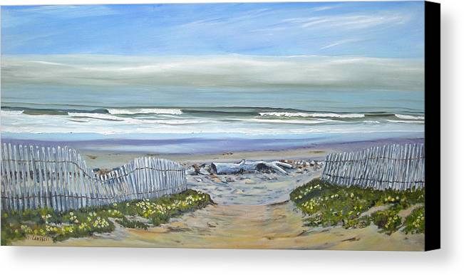 Seascape Canvas Print featuring the painting Haskells Beach Morning by Jeffrey Campbell