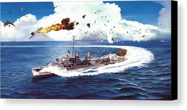 Aviation Canvas Print featuring the painting Hell Over The Hadley by Marc Stewart