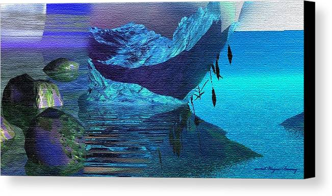 Blue Canvas Print featuring the painting Islands Collage by Wayne Bonney