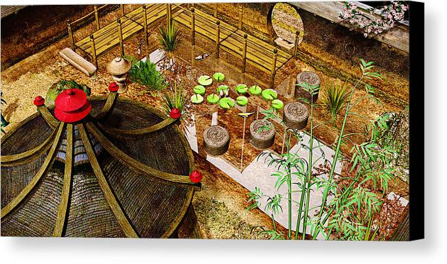 Garden Canvas Print featuring the photograph Japanese Garden by Peter J Sucy