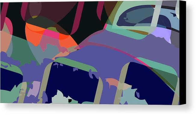 Abstract Canvas Print featuring the digital art Jim 6 by Scott Davis