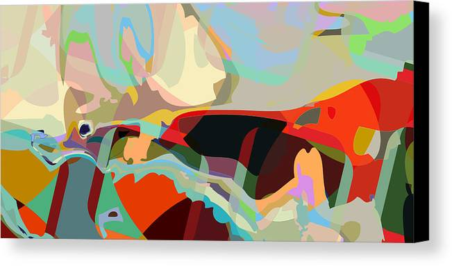 Abstract Canvas Print featuring the digital art Jim 8 by Scott Davis