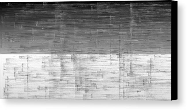 Rithmart Abstract Horizon Land Sky Water Landscape Cloud Clouds Lake Wind Nature Beatiful Serene Ripples Night Day Evening River Grass Earth Planet Digital Computer Generated Organic Random Across Colors Containing Drawn Grayish Image Images Layer Lines Made Many One Partially Placed Randomly Rectangular Sections Sequence Series Shapes Two Using Vaguely Visible Canvas Print featuring the digital art L19-8 by Gareth Lewis