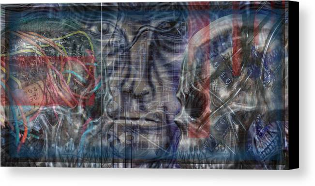 Skulls Canvas Print featuring the digital art Mensrea by Leigh Odom