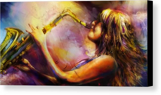 Mindi Abari Canvas Print featuring the painting Mindi by Mike Massengale
