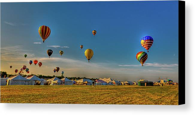 29th Annual Quick Chek New Jersey Festival Of Ballooning Canvas Print featuring the photograph Morning Colors by David Hahn