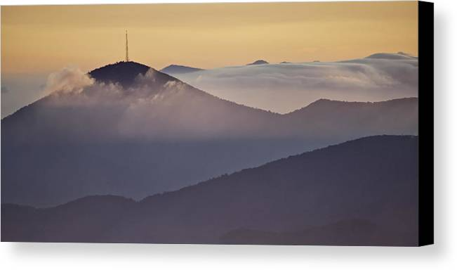 Parkway Canvas Print featuring the photograph Mount Pisgah In Morning Light - Blue Ridge Mountains by Rob Travis