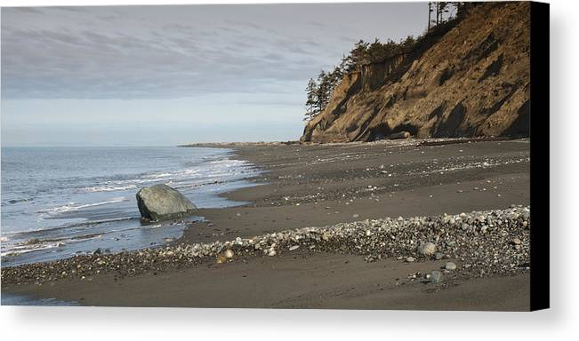 Beach Canvas Print featuring the photograph Ocean Front View by Chad Davis