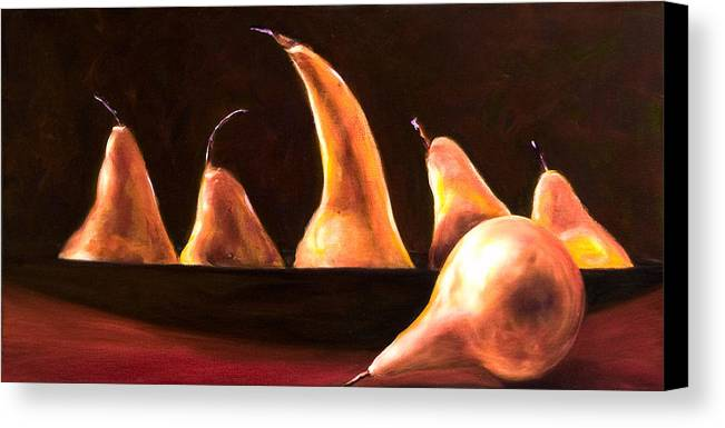 Still Life Canvas Print featuring the painting Overboard by Shannon Grissom