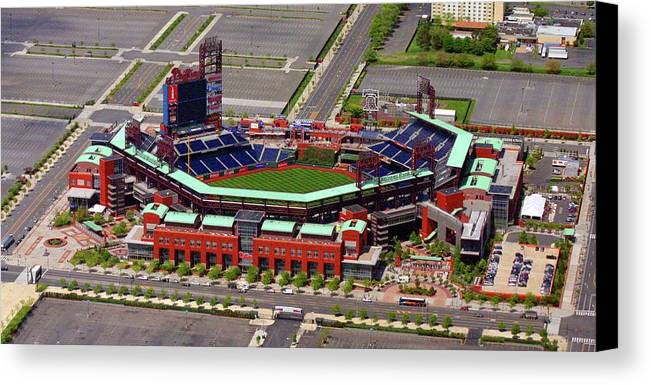 Phillies Canvas Print featuring the photograph Phillies Citizens Bank Park by Duncan Pearson