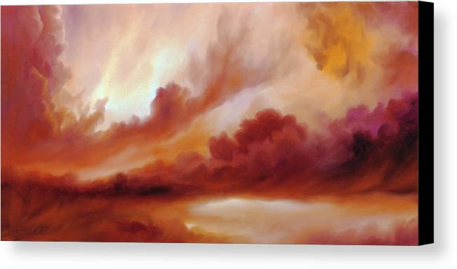 Skyscape Canvas Print featuring the painting Receding Storm Sketch IIi by James Christopher Hill