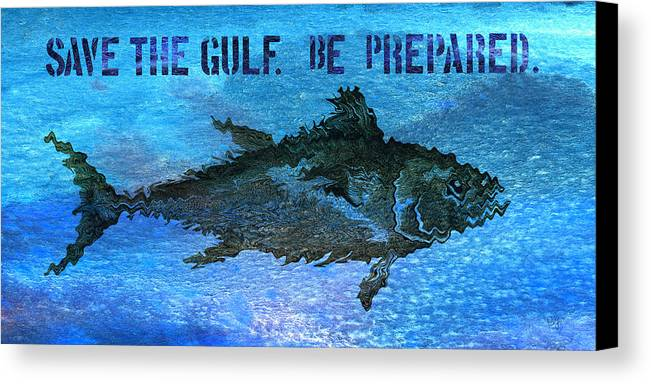 Save The Gulf Of Mexico Canvas Print featuring the mixed media Save The Gulf America 2 by Paul Gaj