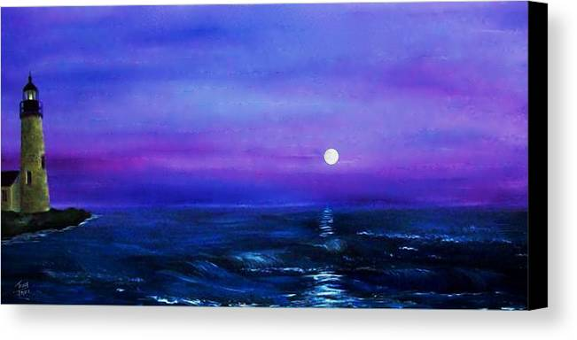 Seascape Canvas Print featuring the painting Seascape II by Tony Rodriguez