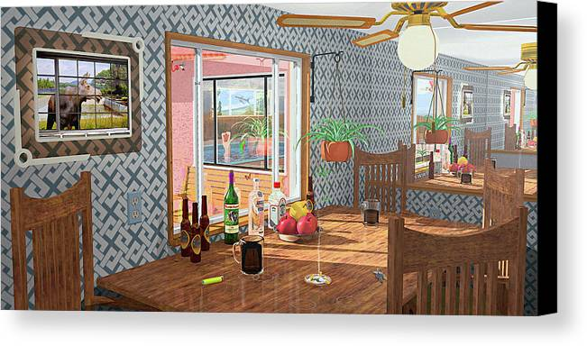 Kitchen Canvas Print featuring the photograph Smoke And Mirrors by Peter J Sucy