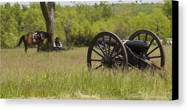 Cannon Canvas Print featuring the photograph Solitude Before War by Chad Davis