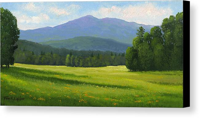Landscape Canvas Print featuring the painting Spring Vista by Frank Wilson