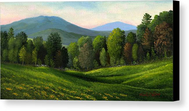 Landscape Canvas Print featuring the painting Summers Ending by Frank Wilson