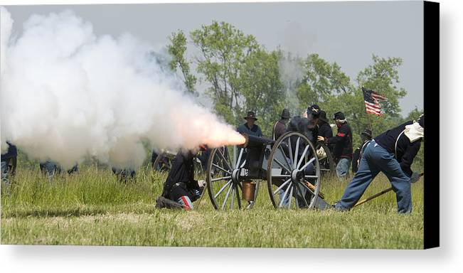 Battle Canvas Print featuring the photograph The Battle by Chad Davis