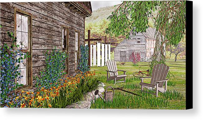 Adirondack Chair Canvas Print featuring the photograph The Chicken Coop by Peter J Sucy