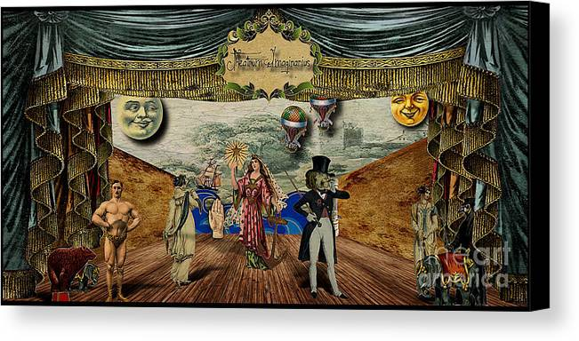 Victorian Canvas Print featuring the digital art Theatrum Imaginarius -theatre Of The Imaginary by Cinema Photography