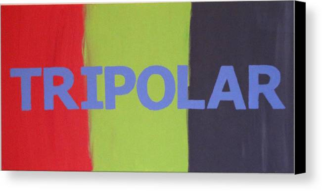 Life Canvas Print featuring the painting Tripolar by Jonathan Perlstein