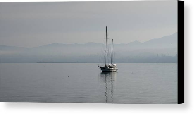 Boat Canvas Print featuring the photograph Waters Of Calmness by Chad Davis