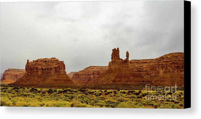Valley Of The Gods Canvas Print featuring the photograph Windy Day by Jerry Sellers