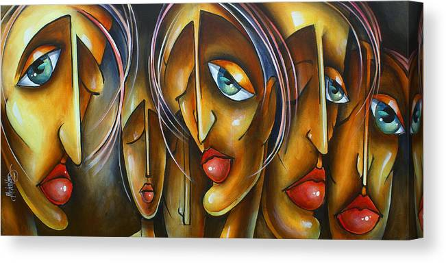 Portrait Canvas Print featuring the painting ' Lost' by Michael Lang