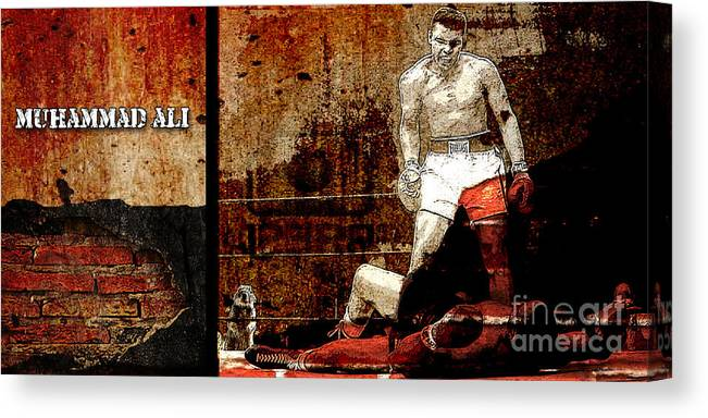Muhammad Ali Mixed Media Mixed Media Mixed Media Canvas Print featuring the mixed media Muhammad Ali by Marvin Blaine