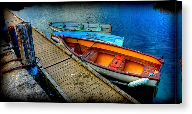Rockport Harbor Canvas Print featuring the photograph Row Boats by Craig Incardone