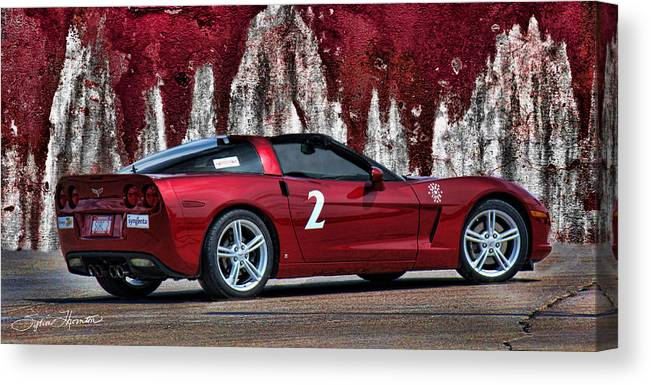Red Corvette Canvas Print featuring the photograph 2008 Corvette by Sylvia Thornton
