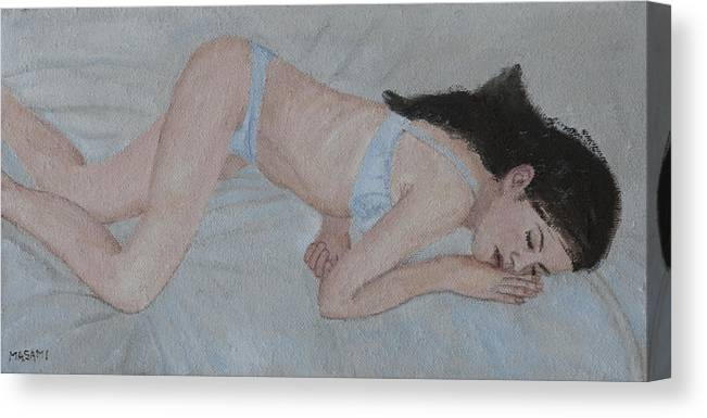 Beauty Canvas Print featuring the painting Dreaming by Masami Iida