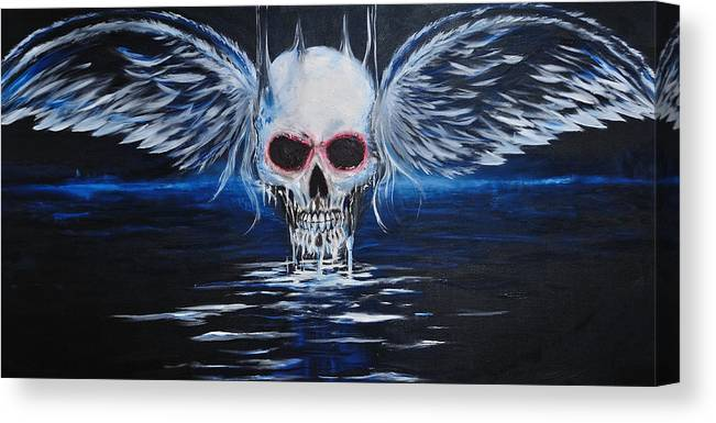 Angel Canvas Print featuring the painting Angel Of Death by Ruben Barbosa