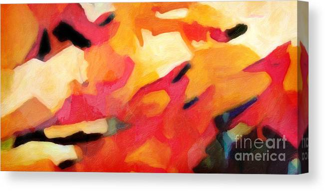 Color Dynamics Canvas Print featuring the painting Color Dynamics by Lutz Baar