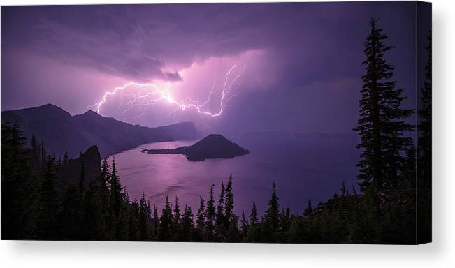Crater Storm Canvas Print featuring the photograph Crater Storm by Chad Dutson