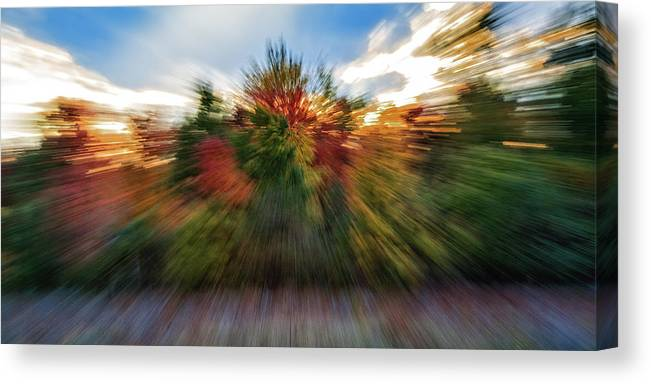 Nature Canvas Print featuring the photograph Falls Rush by Michael Hubley