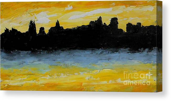 Abstract Canvas Print featuring the painting High Tide by Fred Wilson