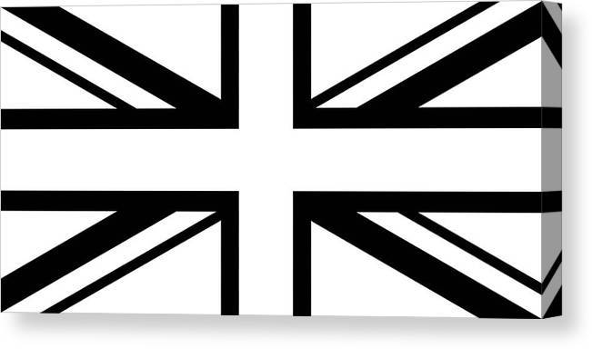 Union Canvas Print featuring the digital art Jack White  White And Black Union Jack by Karl Jones