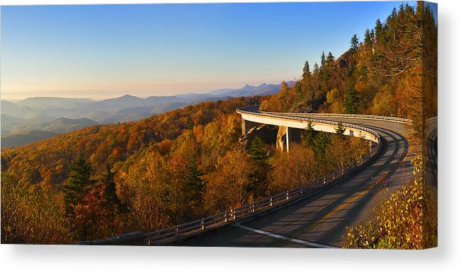 Cove Canvas Print featuring the photograph Linn Cove Viaduct by Gregory Scott