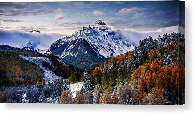 Canvas Print featuring the photograph Majestic Mt. Sneffles by David Soldano