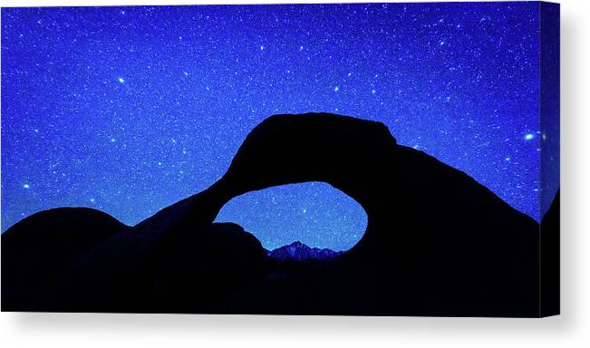Photography Canvas Print featuring the photograph Starry Arch At Mobius Arch, Alabama by Panoramic Images