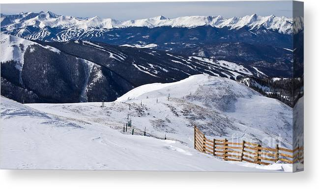 Mountain Canvas Print featuring the photograph Summit County Ski Resorts by Benjamin Reed