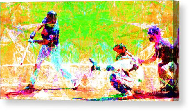 Baseball Canvas Print featuring the photograph The Boys Of Summer 5d28228 Long by Wingsdomain Art and Photography