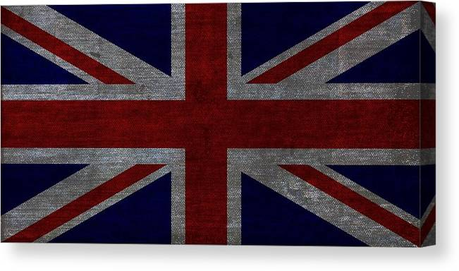 United Kingdom Canvas Print featuring the digital art Union Jack Vintage by Karl Jones