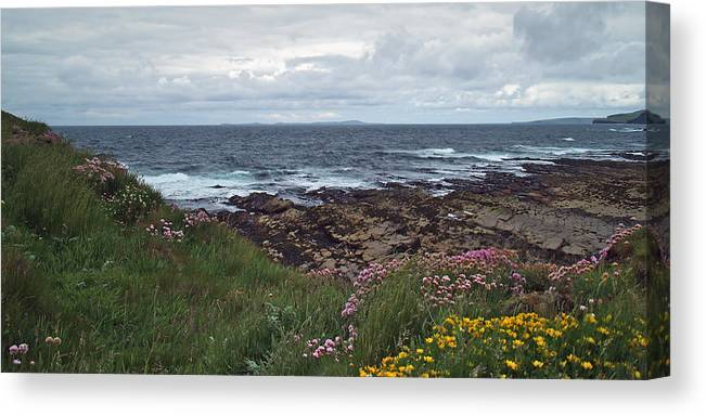 Sea Canvas Print featuring the photograph Westray Firth by Steve Watson