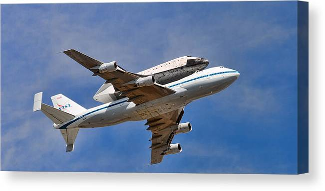 Anaheim Canvas Print featuring the photograph Final Flight Endeavour by Peter Tellone