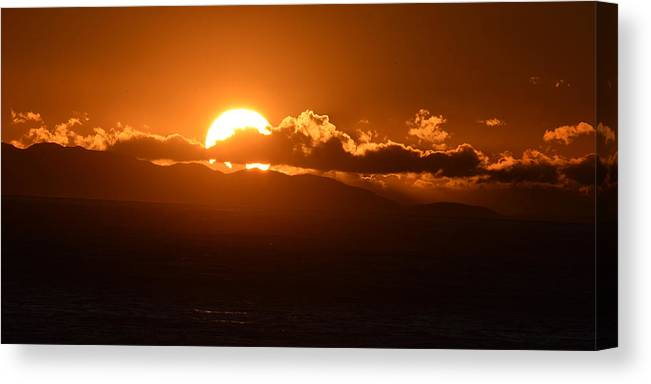 Sunset Canvas Print featuring the photograph Sunset by Debra Wales