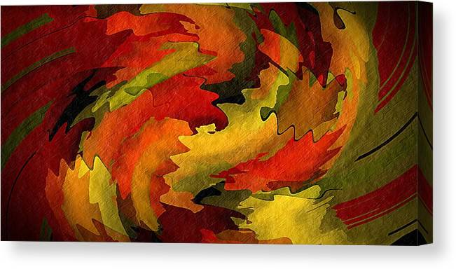 Abstract Canvas Print featuring the digital art Autumn Leaves by Terry Mulligan