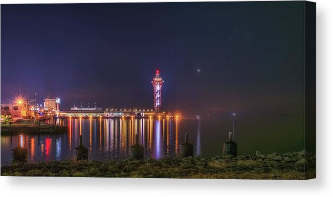Bicentennial Tower Canvas Print featuring the pyrography Bicentennial Tower by Rachel Snydstrup