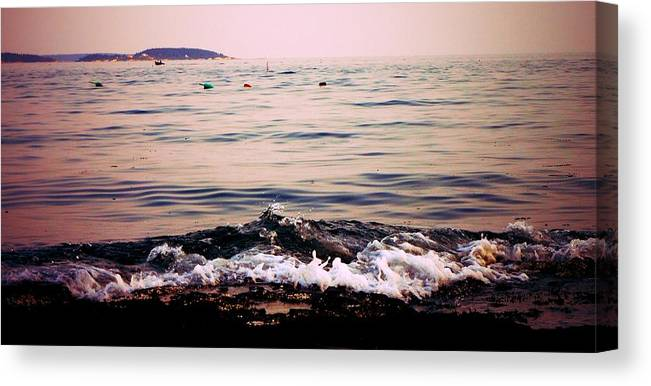 Maine Canvas Print featuring the photograph Casco Bay by Maxine LaCombe